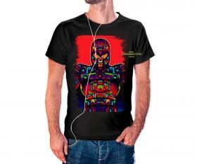 CAMISETA MAGNETO VITRAL Tecido 100% Poliéster Estampa Colorida A3  Sublimação Camiseta na cor preta