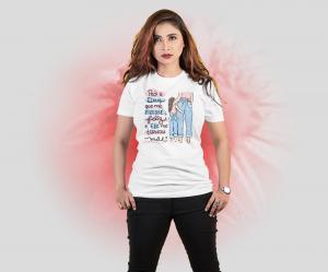 Camiseta pedi a Deus que me fizesse feliz e Ele me tornou mãe Tecido Poliéster Estampa Colorida A3  Sublimação