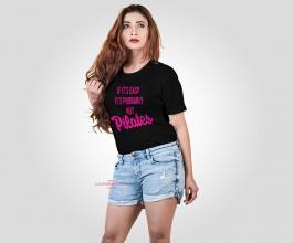 CAMISETA PILATES NÃO É FÁCIL Tecido 100% Poliéster Preta Estampa Colorida A3  Sublimação Camiseta na cor preta