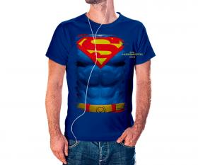 CAMISETA SUPERMAN Tecido 100% Poliéster Estampa Colorida A3  Sublimação Camiseta na cor azul
