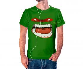 CAMISETA TARTARUGA NINJA Tecido 100% Poliéster Estampa Colorida A3  Sublimação Camiseta na cor verde