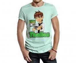 Camiseta temática ben10 Tecido 100% Poliéster Estampa Colorida A3  Sublimação