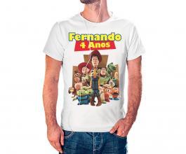 Camiseta temática toy story Tecido 100% Poliéster Estampa Colorida A3  Sublimação