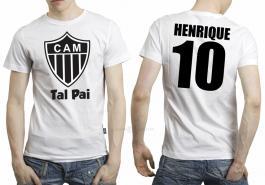 Camiseta torcedor atlético mineiro tal pai Tecido 100% Poliéster Estampa Colorida A3  Sublimação