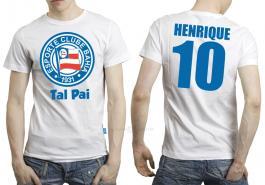 Camiseta torcedor bahia tal pai Tecido 100% Poliéster Estampa Colorida A3  Sublimação