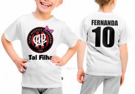 Camiseta torcedor athletico paranaense tal filha Tecido 100% Poliéster Estampa Colorida A3  Sublimação