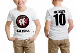 Camiseta torcedor atlético paranaense tal filho Tecido 100% Poliéster Estampa Colorida A3  Sublimação