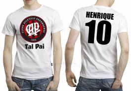 Camiseta torcedor athletico paranaense tal pai Tecido 100% Poliéster Estampa Colorida A3  Sublimação