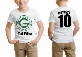 Camiseta torcedor goiás tal filho Tecido 100% Poliéster Estampa Colorida A3  Sublimação