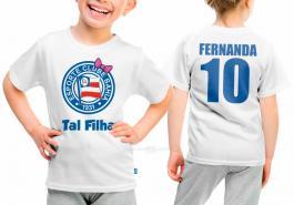 Camiseta torcedor bahia tal filha Tecido 100% Poliéster Estampa Colorida A3  Sublimação