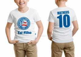 Camiseta torcedor bahia tal filho Tecido 100% Poliéster Estampa Colorida A3  Sublimação