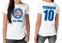 Camiseta torcedor bahia tal mãe Tecido 100% Poliéster Estampa Colorida A3  Sublimação