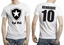 Camiseta torcedor botafogo tal pai Tecido 100% Poliéster Estampa Colorida A3  Sublimação