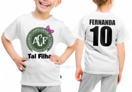 Camiseta torcedor chapecoense tal filha Tecido 100% Poliéster Estampa Colorida A3  Sublimação