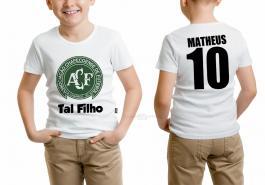 Camiseta torcedor chapecoense tal filho Tecido 100% Poliéster Estampa Colorida A3  Sublimação
