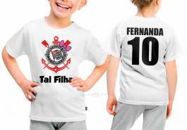 Camiseta torcedor corinthians tal filha Tecido 100% Poliéster Estampa Colorida A3  Sublimação