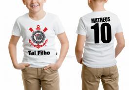 Camiseta torcedor corinthians tal filho Tecido 100% Poliéster Estampa Colorida A3  Sublimação