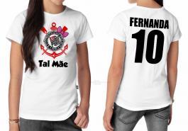 Camiseta torcedor corinthians tal mãe Tecido 100% Poliéster Estampa Colorida A3  Sublimação