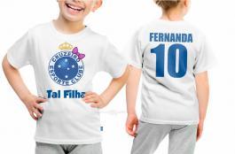 Camiseta torcedor cruzeiro tal filha Tecido 100% Poliéster Estampa Colorida A3  Sublimação