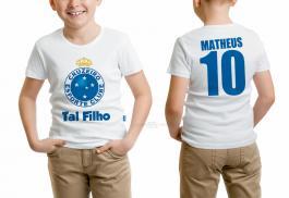 Camiseta torcedor cruzeiro tal filho Tecido 100% Poliéster Estampa Colorida A3  Sublimação