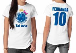 Camiseta torcedor cruzeiro tal mãe Tecido 100% Poliéster Estampa Colorida A3  Sublimação