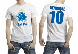 Camiseta torcedor cruzeiro tal pai Tecido 100% Poliéster Estampa Colorida A3  Sublimação