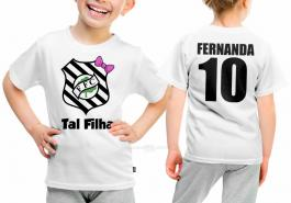 Camiseta torcedor figueirense tal filha Tecido 100% Poliéster Estampa Colorida A3  Sublimação