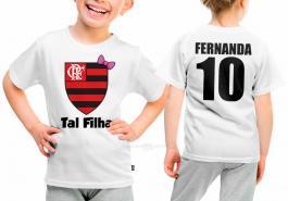 Camiseta torcedor flamengo tal filha Tecido 100% Poliéster Estampa Colorida A3  Sublimação