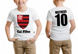 Camiseta torcedor flamengo tal filho Tecido 100% Poliéster Estampa Colorida A3  Sublimação
