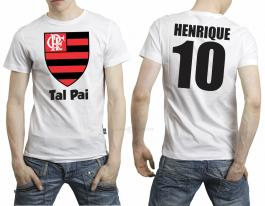 Camiseta torcedor flamengo tal pai Tecido 100% Poliéster Estampa Colorida A3  Sublimação