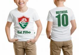 Camiseta torcedor fluminense tal filho Tecido 100% Poliéster Estampa Colorida A3  Sublimação
