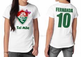 Camiseta torcedor fluminense tal mãe Tecido 100% Poliéster Estampa Colorida A3  Sublimação