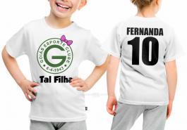 Camiseta torcedor goiás tal filha Tecido 100% Poliéster Estampa Colorida A3  Sublimação