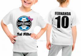 Camiseta torcedor grêmio tal filha Tecido 100% Poliéster Estampa Colorida A3  Sublimação
