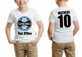 Camiseta torcedor grêmio tal filho Tecido 100% Poliéster Estampa Colorida A3  Sublimação