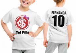 Camiseta torcedor internacional tal filha Tecido 100% Poliéster Estampa Colorida A3  Sublimação