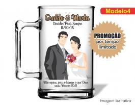 Caneca acrílica casamento de 350ml - Casamento cas04 Poliestireno  Frente colorido Adesivo Vinil UV Led