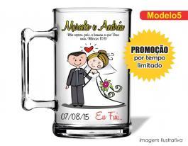 Caneca acrílica casamento de 350ml - Casamento cas05 Poliestireno  Frente colorido Adesivo Vinil UV Led