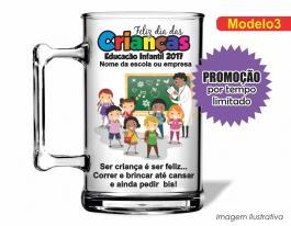 Caneca acrílica dia das crianças - mod003 Poliestireno  Frente colorido Adesivo Vinil UV Led