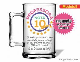 CANECA ACRÍLICA DIA DOS PROFESSORES MOD009 Poliestireno 350ml Frente colorido Adesivo Vinil UV Led