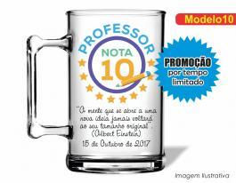 CANECA ACRÍLICA DIA DOS PROFESSORES MOD010 Poliestireno 350ml Frente colorido Adesivo Vinil UV Led