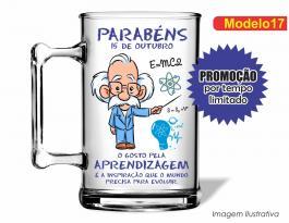 CANECA ACRÍLICA DIA DOS PROFESSORES MOD017 Poliestireno  Frente colorido Adesivo Vinil UV Led