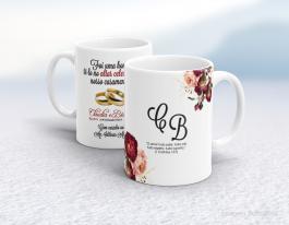 Caneca cerâmica com alça e interior em branco personalizada de 325ml - homenagem ao pastor ou pastora Cerâmica branca   Sublimação