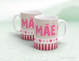 Caneca em cerâmica dia das mães - Feliz dia das Mães Cerâmica branca   Sublimação