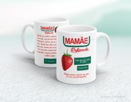 Caneca em cerâmica dia das mães - Mamãe refinada Cerâmica branca   Sublimação