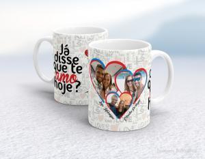 Caneca em cerâmica dia dos namorados - já disse que te amo hoje? Cerâmica branca interior e alça branca   Sublimação