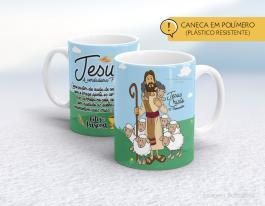 Caneca em polímero Jesus a verdadeira páscoa Polímero (plástico resistente)
