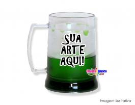 Caneca gel congelante verde de 400ml Polietileno   Adesivo Vinil UV Led ou Silk-Screen