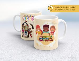 caneca plástica feliz dia das crianças mod003 Polímero (plástico resistente)   Impressão direto na caneca  350ml