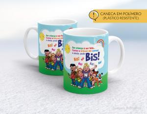 caneca plástica feliz dia das crianças mod005 Polímero (plástico resistente)   Impressão direto na caneca  350ml